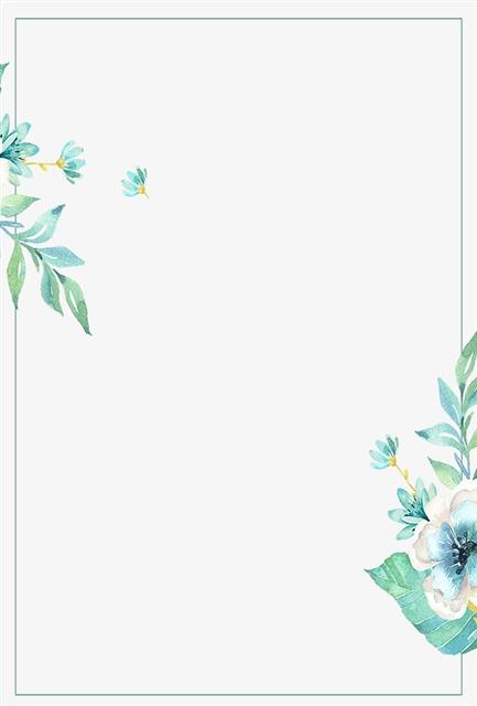 小清新花卉装饰边框
