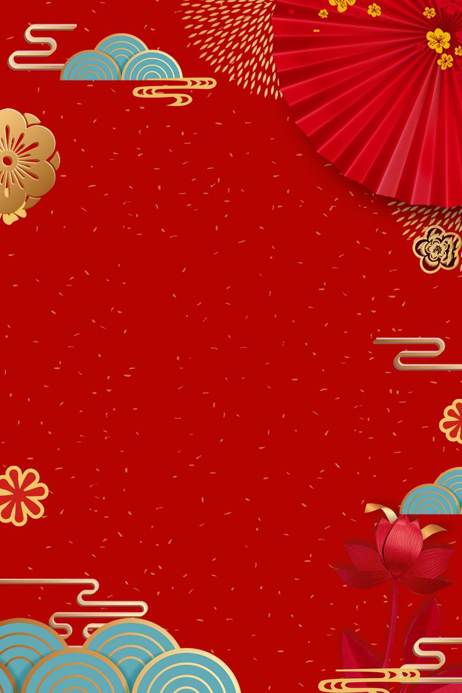 红色新年春节背景图