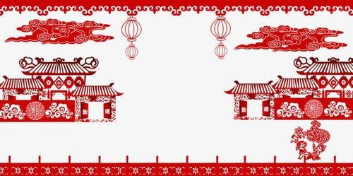 中国风春节剪纸边框