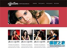 欧美性感女性网站模板