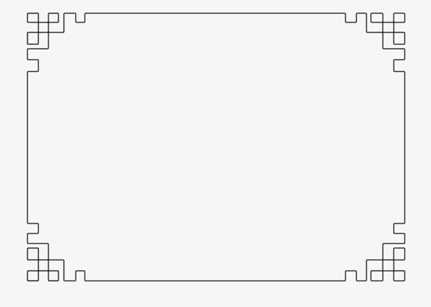 古风矩形矢量边框