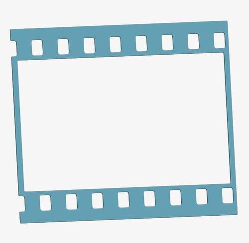 蓝色胶片边框