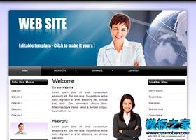 导航式英文网站模板