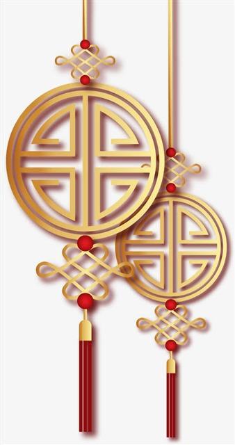 中国风新年装饰吊坠