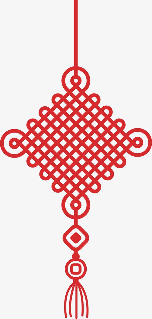 红色新年中国结