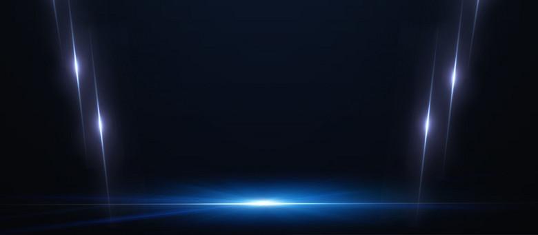 蓝色光芒科技酷炫banner