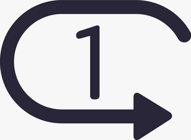 单曲循环图标符号