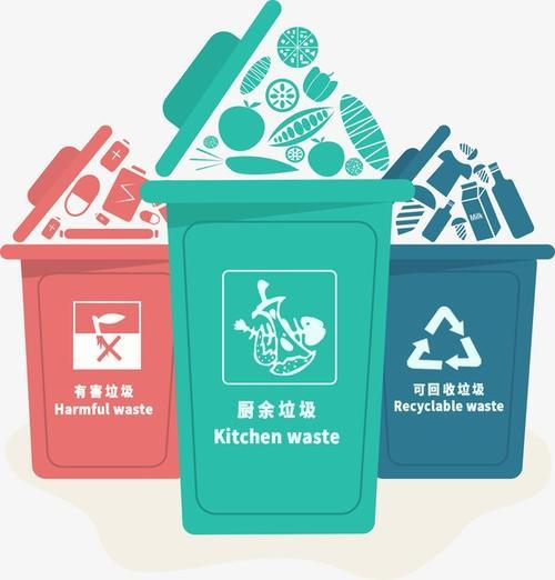垃圾分类垃圾桶图标