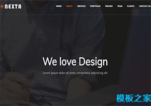 nexta全屏公司企业单页网站首页