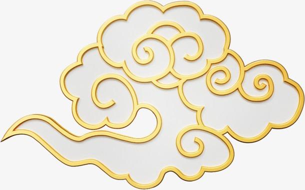 金色如意云纹