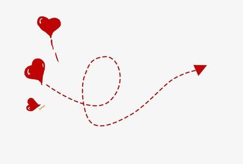 卡通爱心线条装饰