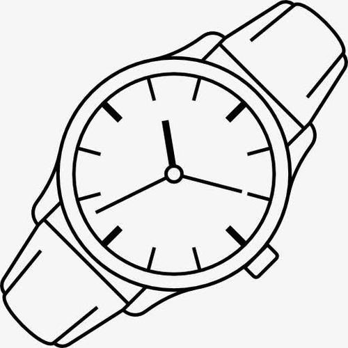 手表手绘图片