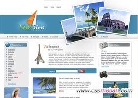 多页面旅游企业网站模板