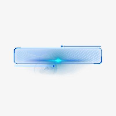 蓝色科技标题框