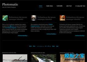黑色创意摄影图片展示网站模板