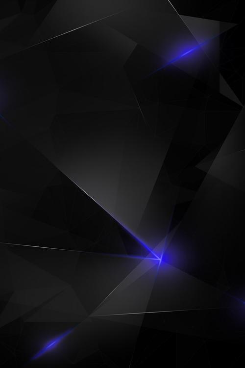 黑色科技感发光几何图形背景
