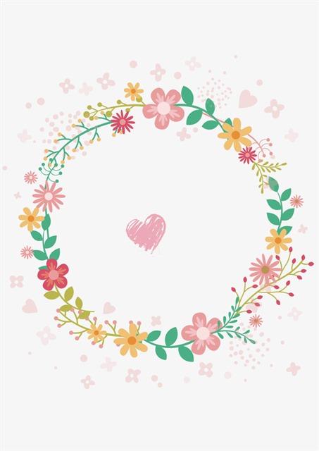 彩色小碎花花环