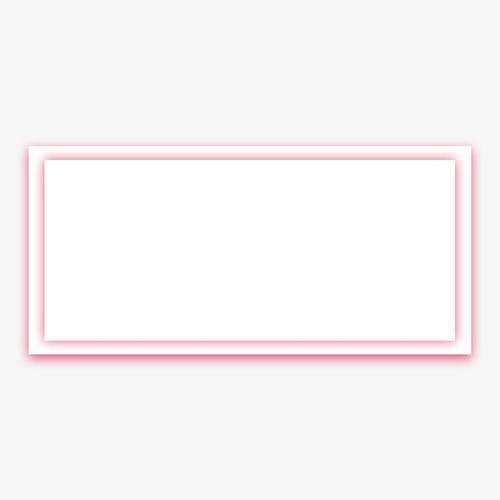 粉色矩形立体边框