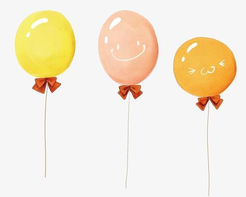 手绘卡通气球png元素