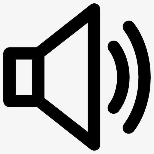 音量喇叭icon线性矢量图标