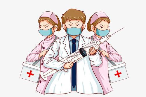 抗疫医护人员卡通人物