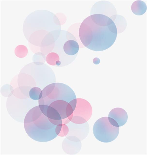 彩色卡通气泡