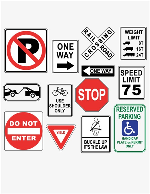 公路交通路牌标志