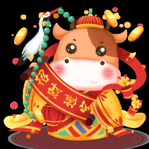 牛年春节主题画