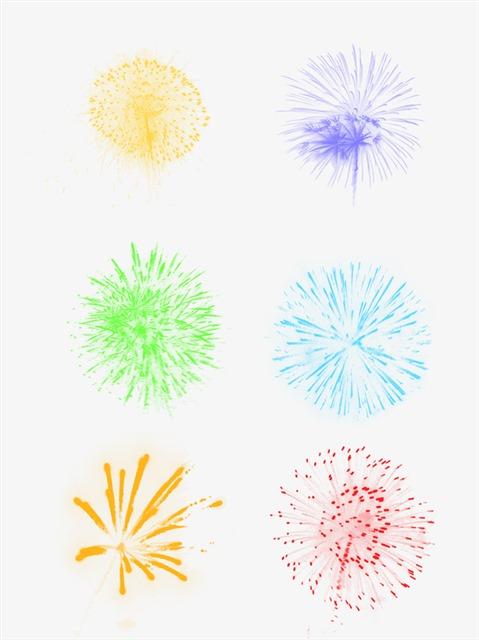 五彩斑斓新年烟花