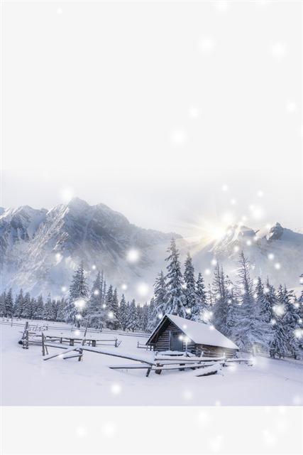 小寒唯美风景图片
