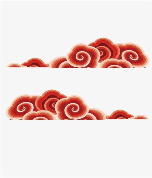 红色立体祥云