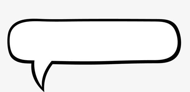 手绘漫画黑白对话框