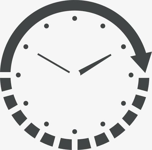 时钟钟表线性图标