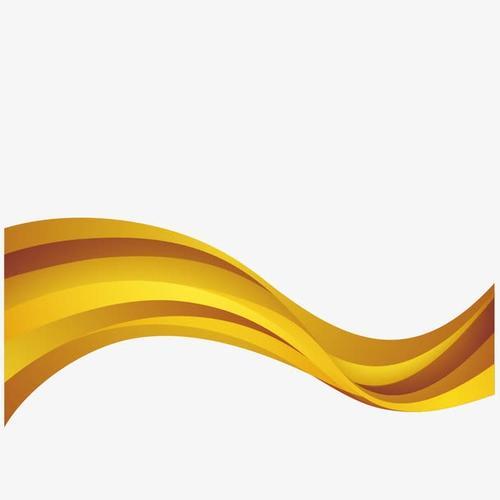 金色立体装饰彩带