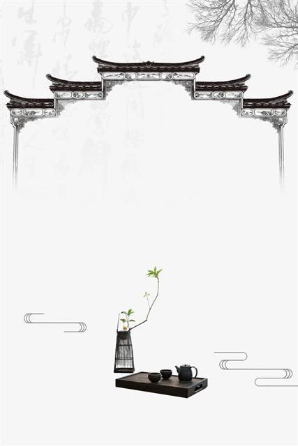 江南古风创意背景