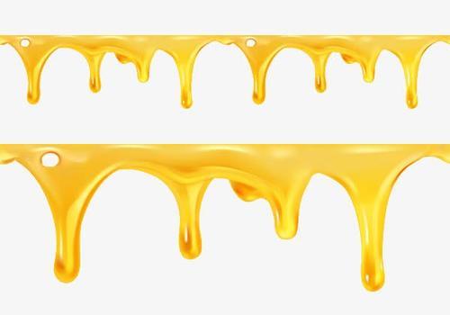 蜂蜜液体滴落PNG免抠