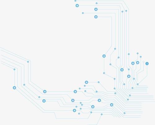 蓝色科技电路板元素