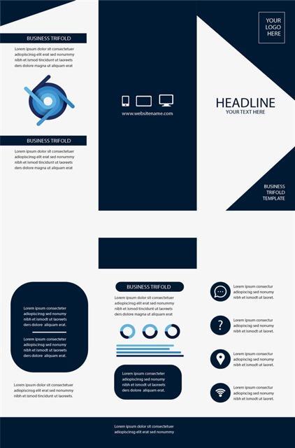 深蓝色企业宣传vi设计手册
