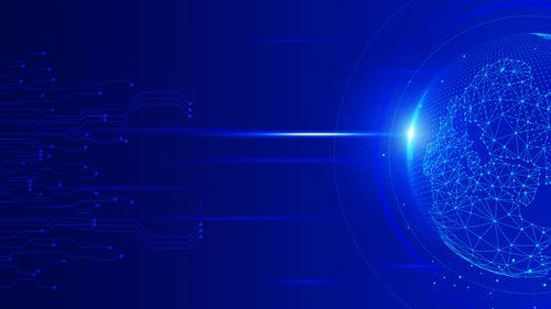 球体蓝色背景图科技元素