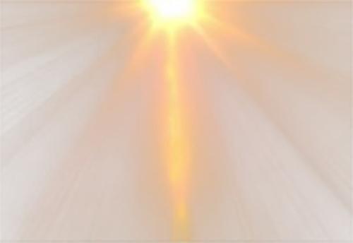 太阳照射光线