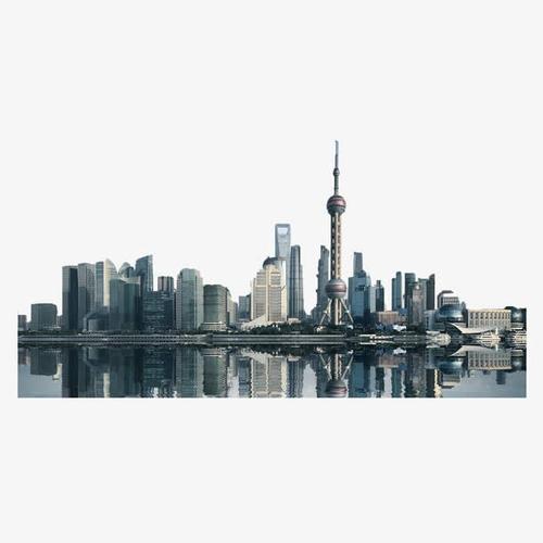 上海外滩东方明珠建筑群