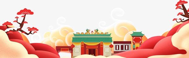 春节大门场景图