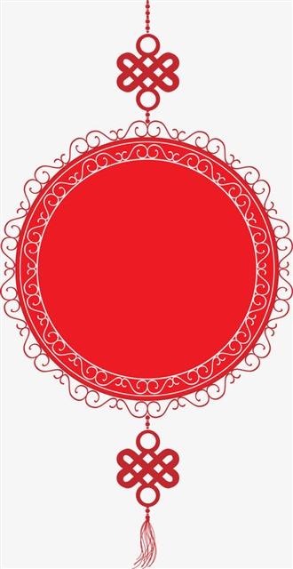 剪纸风新年中国结装饰