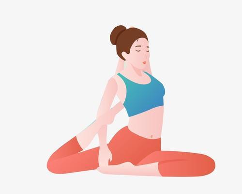 瑜伽卡通人物插画