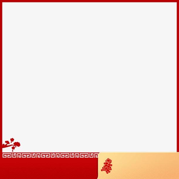红色喜庆淘宝主图边框