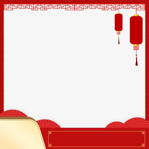 新年淘宝主图框架素材