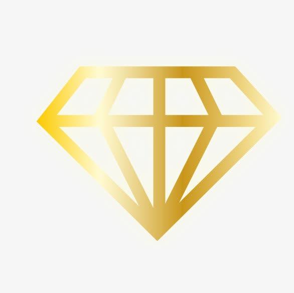 金色钻石矢量图标