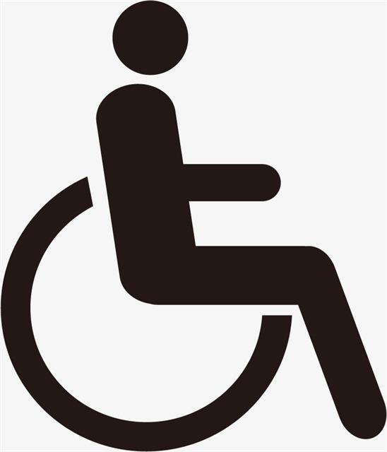 残疾人设施标志线性图标