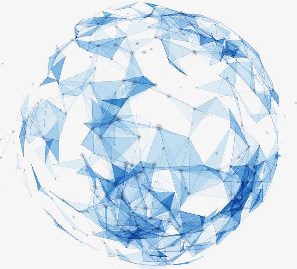 蓝色几何立体科技地球