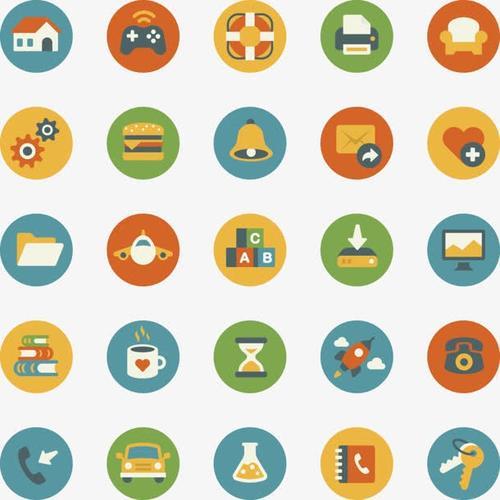 手机app卡通图标